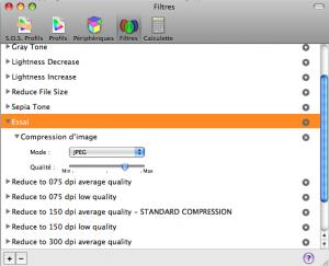 Ajuster les paramètres du filtre