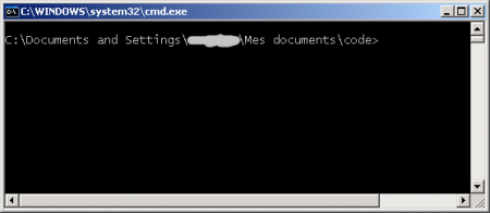 Ouvrir une invite de commande ici 0xbaddc0de for Fenetre windows xp